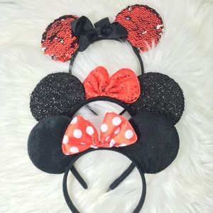Minnie Mouse ears lot of 3